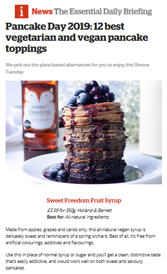 Press | Sweet Freedom is hitting the headlines